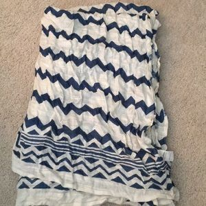 World Market Blue and White Scarf